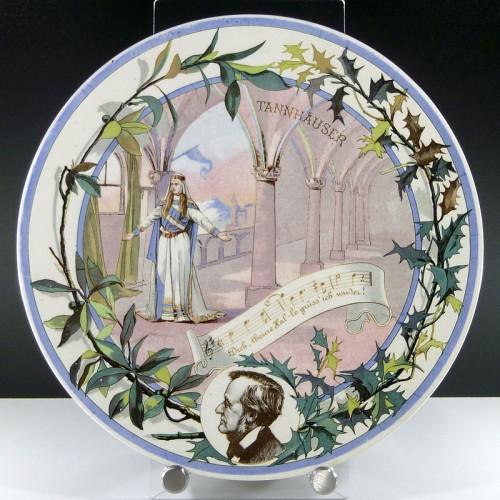 Richard Wagner Wandteller Sarreguemines - Tannhäuser Elisabeth