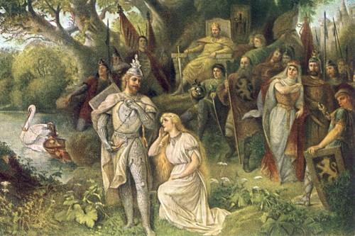 Poster: Lohengrins Ankunft