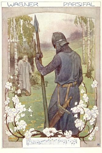 Poster: Parsifal und Gurnemanz