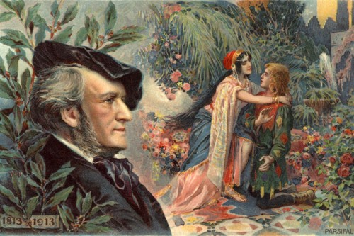 Poster: Parsifal mit Wagner Portrait 60 x 90 cm