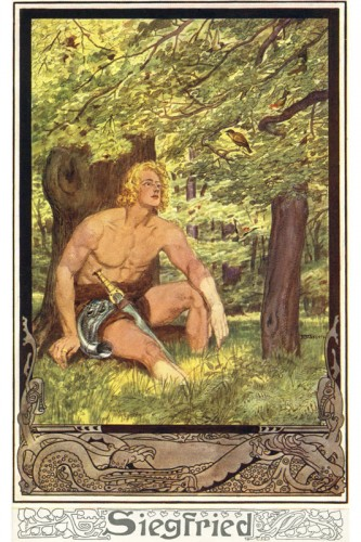 Poster: Siegfried und Waldvogel