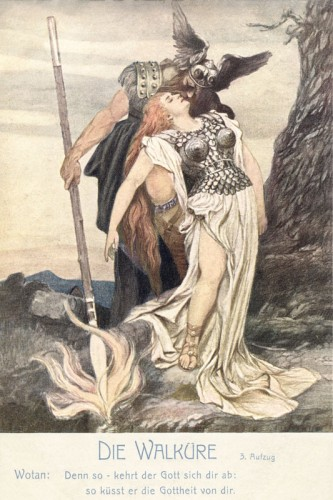 Poster: Wotan und Brünnhilde 40 x 60 cm