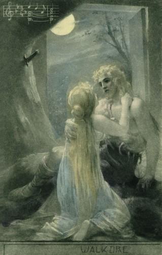 Poster: Siegmund und Sieglinde 50 x 75 cm