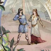 Richard Wagner Wandteller Sarreguemines - Tristan und Isolde