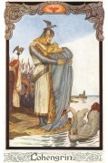 Poster: Lohengrins Abschied 20 x 30 cm