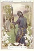 Poster: Parsifal und Gurnemanz 30 x 45 cm