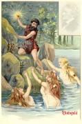 Poster: Alberich und die Rheintöchter 20 x 30 cm