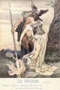 Poster: Wotan und Brünnhilde 20 x 30 cm